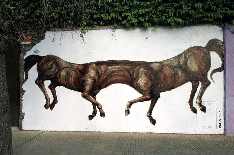 jaz horses buenos aires street art