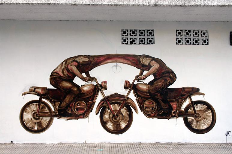 jaz bikes street art buenos aires