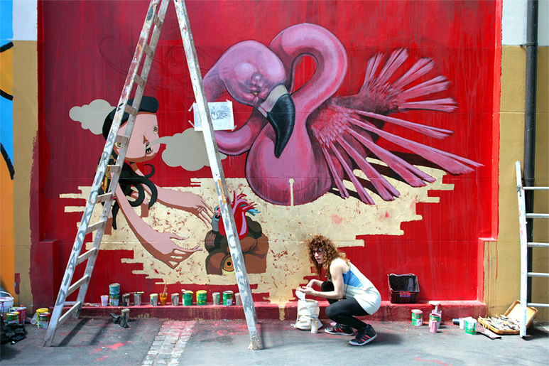 Georgina Ciotti at Meeting of styles urban art festval Buenos Aires
