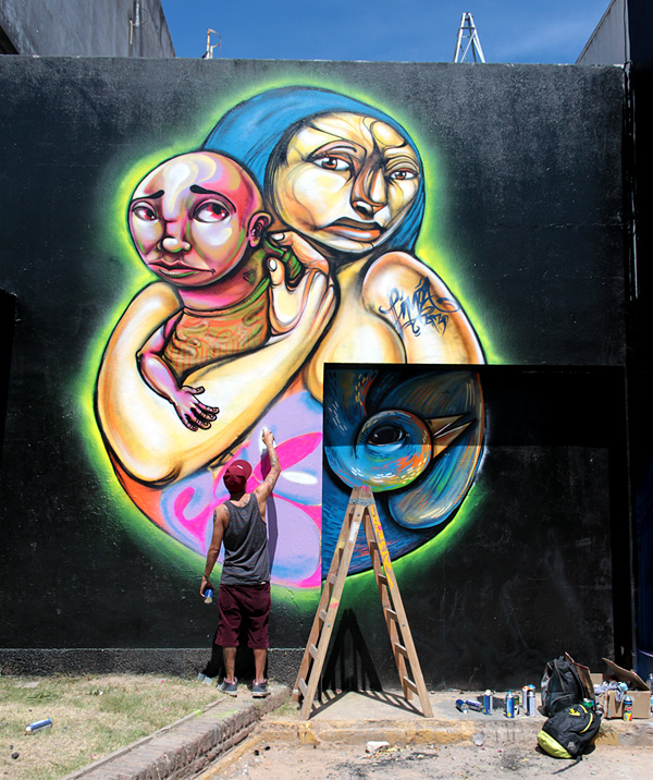 entes + pesimo at Meeting of styles urban art festval Buenos Aires