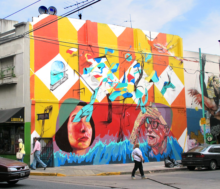 mart + ever + poeta + decertor at Meeting of styles urban art festval Buenos Aires