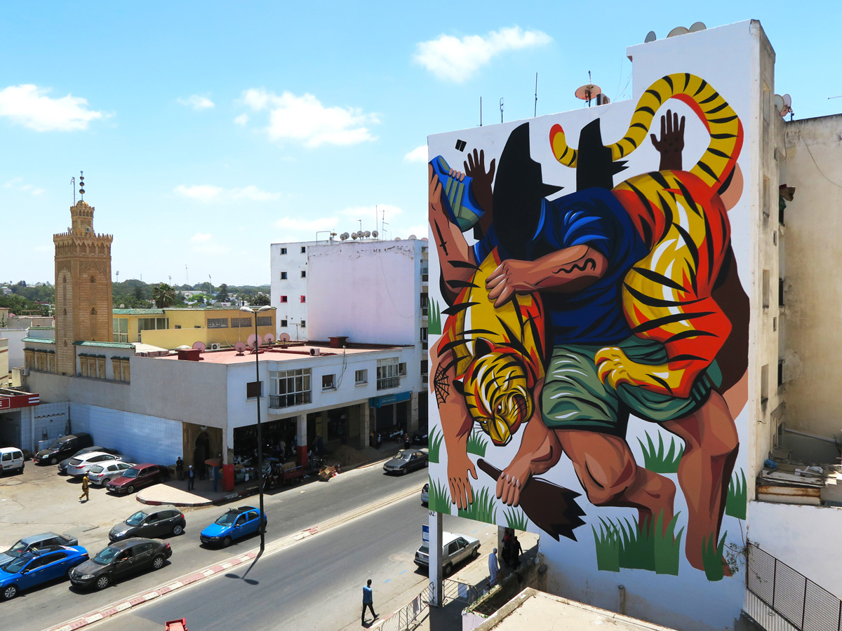 Jaz in Morroco      Stunning new work painted for the Jidar Festival