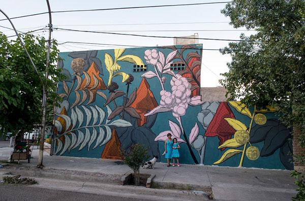 """Pastel, """"Flora pehuenche"""", Mendoza Argentina"""