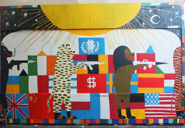obras de arte geniales para sala de estar Galeria De Arte Callejero Graffitimundo