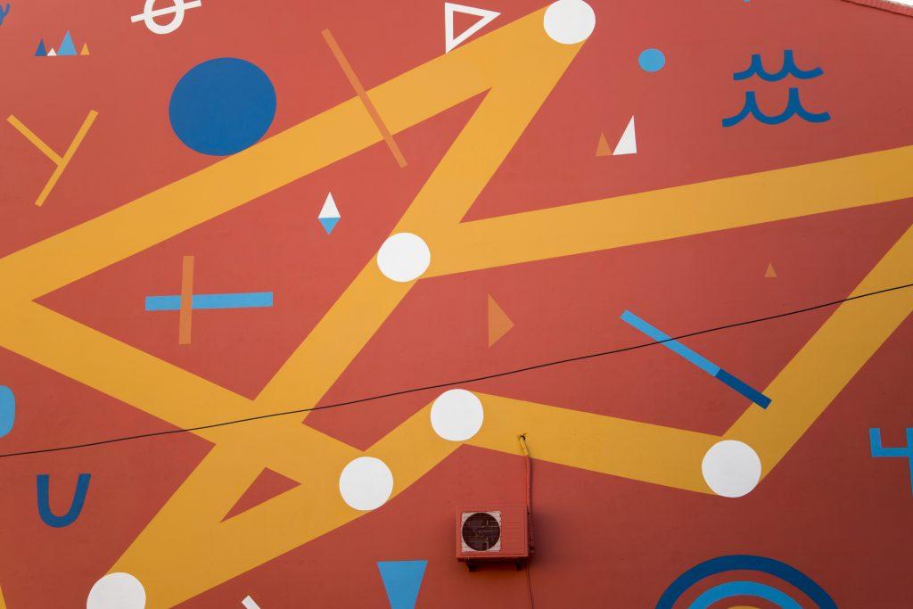 Detalle del mural de Julián Manzelli